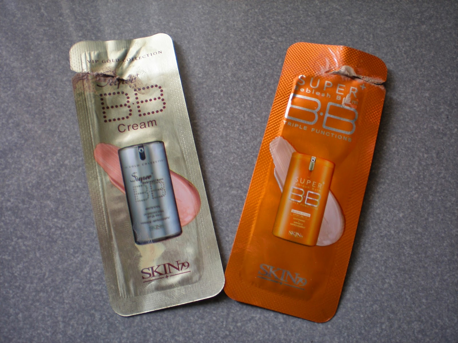 Skin79 Gold VIP and Skin79 Orange Super+ BB creams
