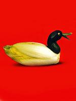 Фигура на патица от зеле цикория