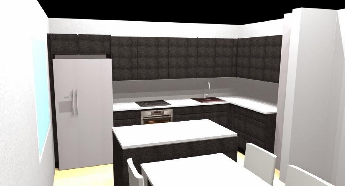 Kompakti koti neljälle Keittiösuunnitelma tarkentuu