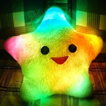 Estrella Luminosa LED Almohada