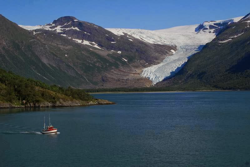 Svartisen is Norway's second largest glacier. the Svartisen glacier is a park of Saltfjellet/Svartosem national park