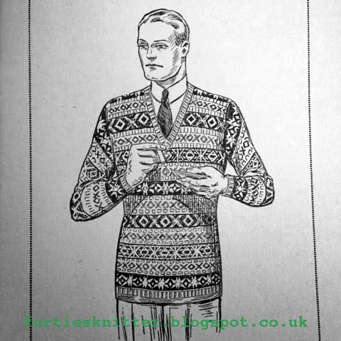 The Vintage Pattern Files: 1930s Knitting - Fair Isle Pullover for Men