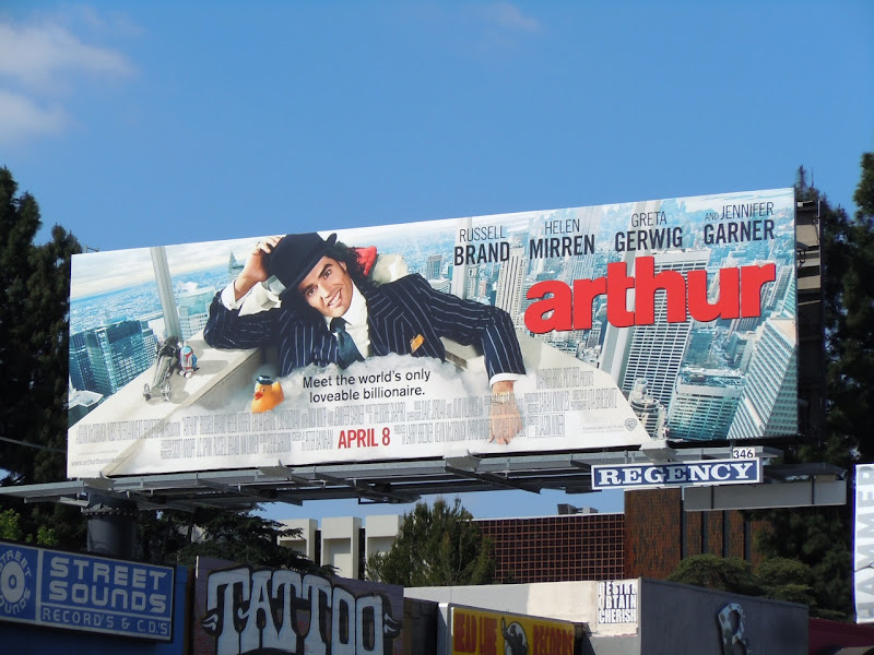Arthur bath tub billboard