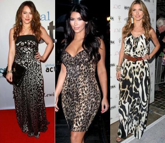 Классические леопардовые платья