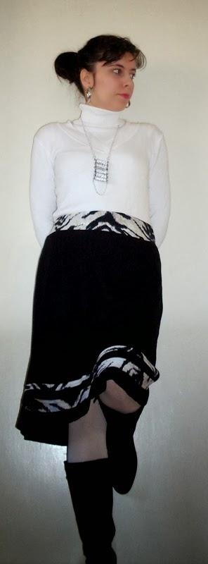 Stepalica Patterns: Zlata suknja - testiranje kroja, Jelena