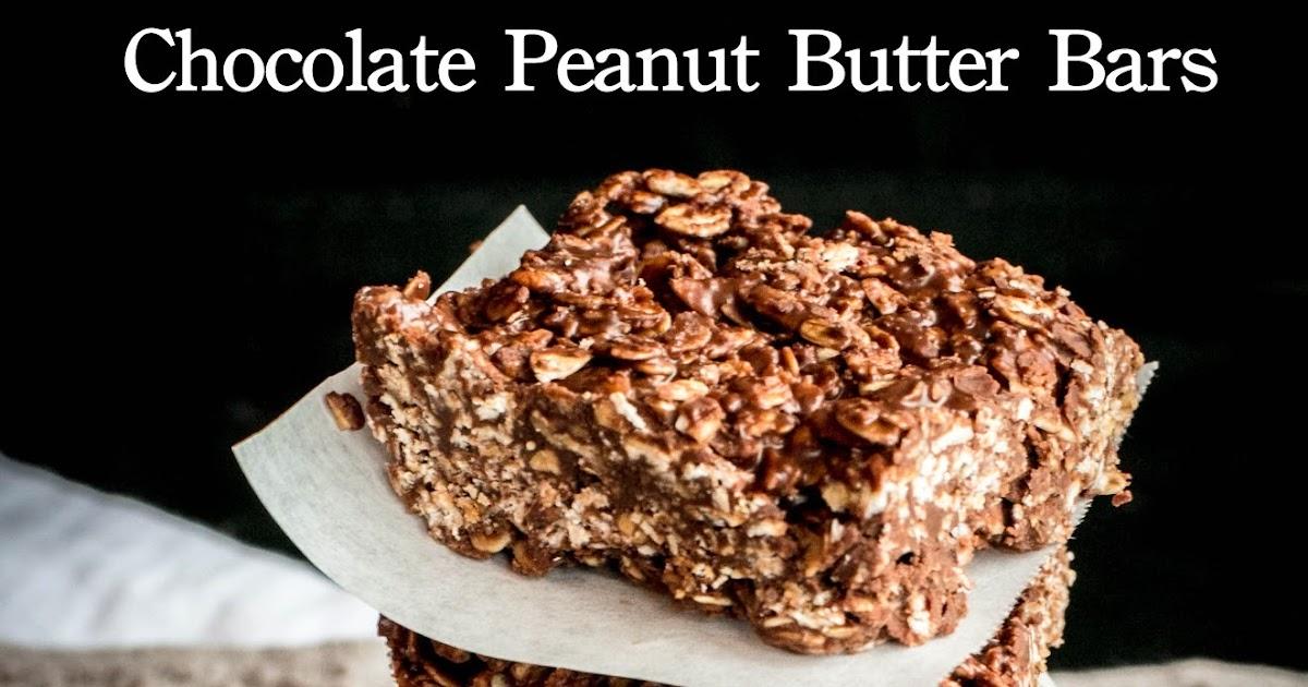 Grain Crazy: Chocolate Peanut Butter Bars (no added sugar)