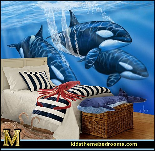 Whale Theme Bedroom Ideas   Whale Theme Decor   Whale Wall Murals   Underwater  Theme Bedrooms