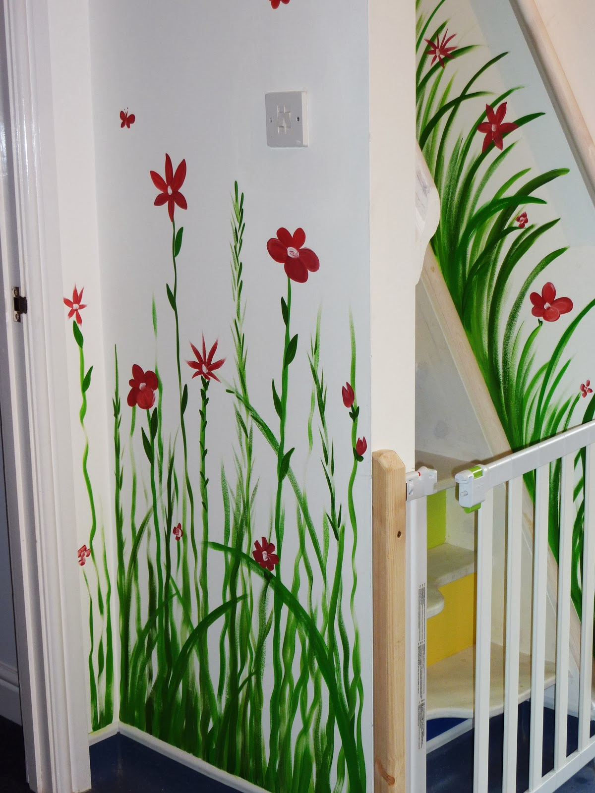 Joanna perry top mural artist hand painting murals for Mural flower