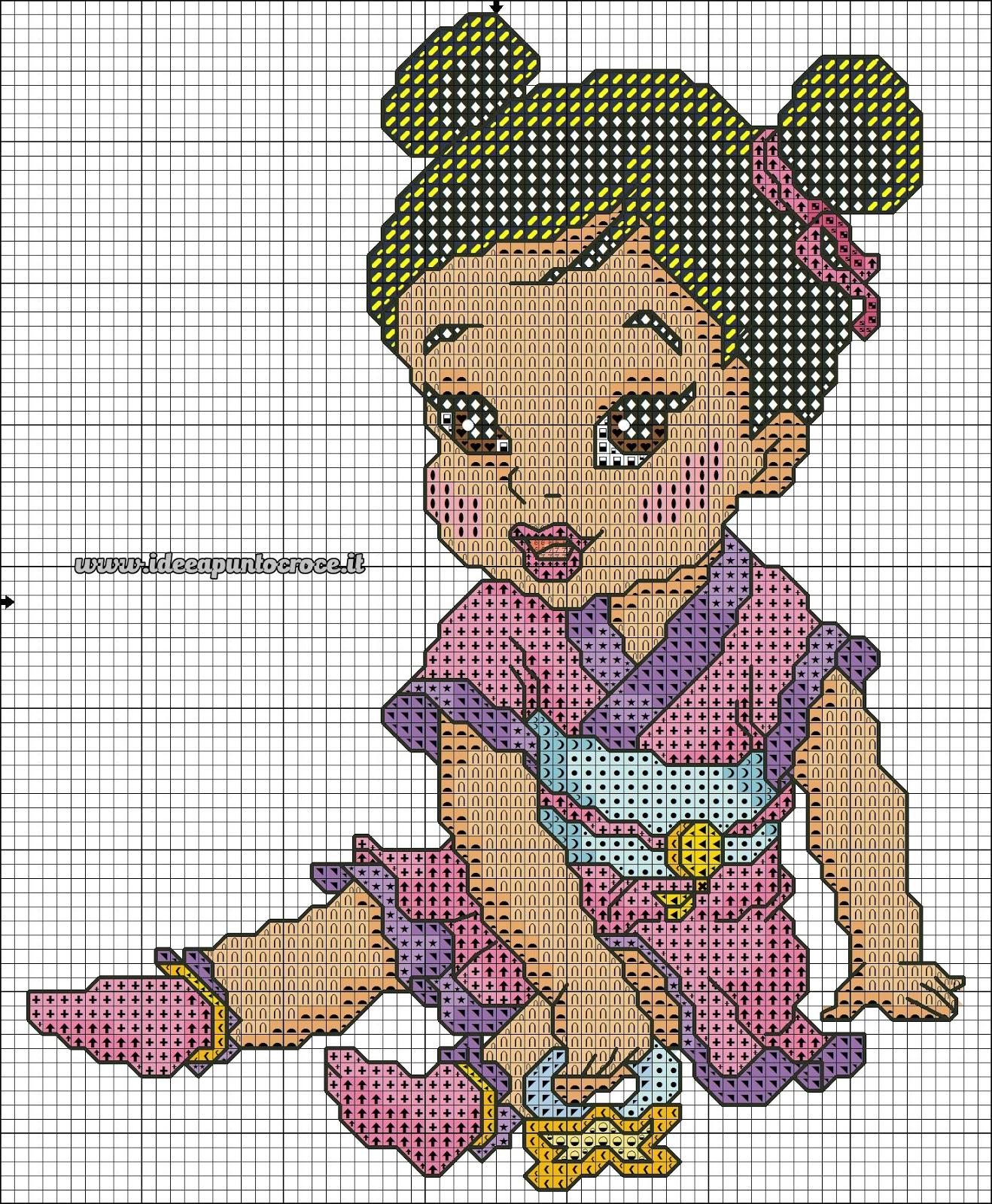 Schemi disney a punto croce schemi baby principesse disney for Disney punto croce schemi gratis