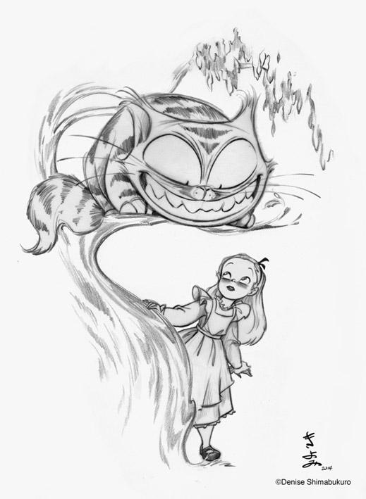 Denises Drawing Board Denishima Designs And The Cheshire Cat