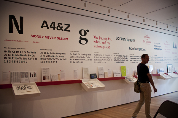 'Standard Deviations' Typography Exhibition MoMa | Midtown | photo - Marika Järv