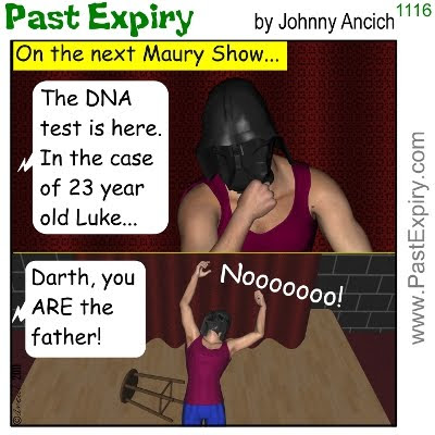 [CARTOON] Paternity Test. cartoon, celebrity, kids, men, relationships, StarWars