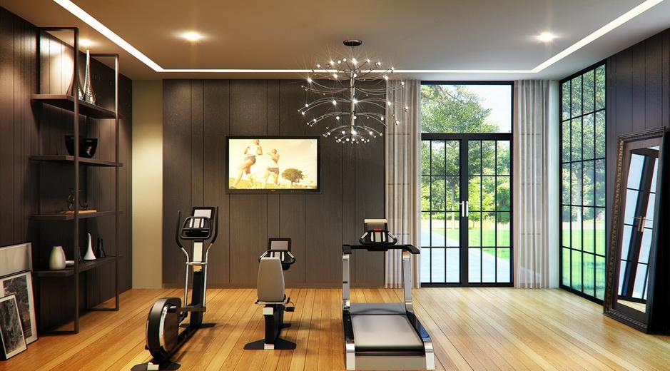 Fitness exercise for women men at home