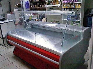 Фото холодильная витрина с широкой выкладкой низко температурная