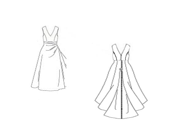 Line Drawing Dress : Snuzal sews a womans prerogative