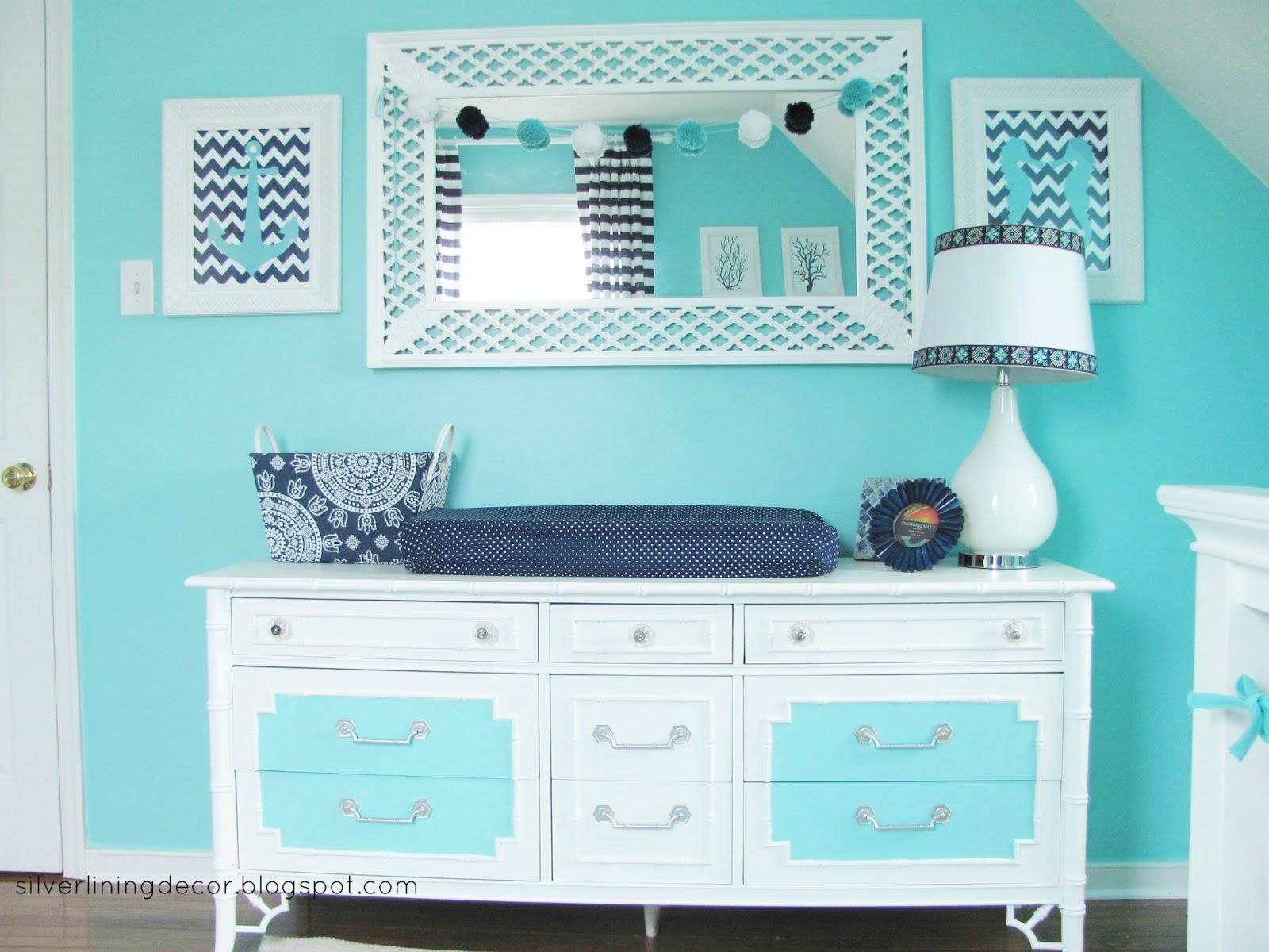 Silver Lining Decor Nautical Nursery Reveal - cheap home decor for nautical nursery