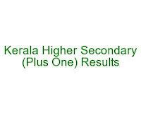 Kerala Plus One Results 2014
