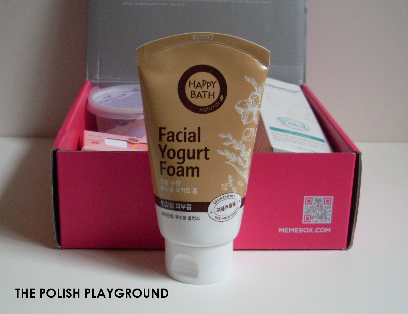 Memebox Superbox #54 Yogurt Cosmetics Unboxing - Happy Bath Facial Yogurt Cleansing Foam in Gentle