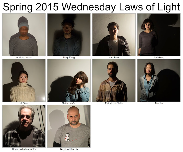 Spring 2015 Wednesday Laws of Light Class