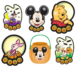recortar personajes disney  dibujos halloween disney para imprimir