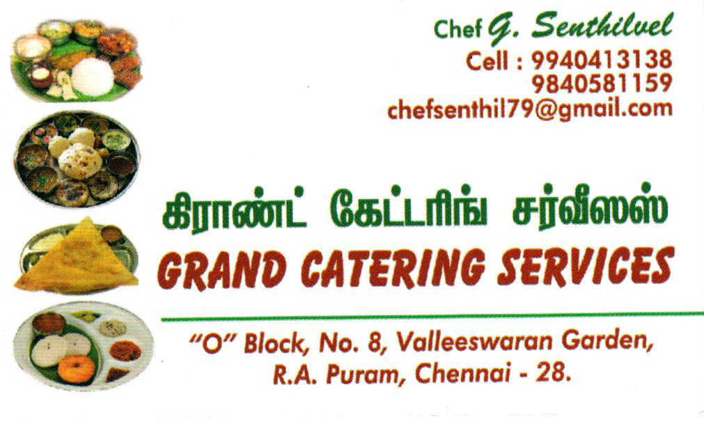 Grand catering service visiting card advertisement grand catering service colourmoves