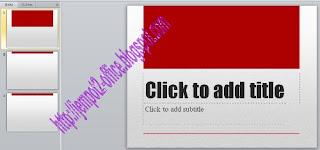 Cara Design Theme pada Microsoft Power PowerPoint 2010 untuk presentasi serta tips memilih theme pada Microsoft PowerPoint 2010