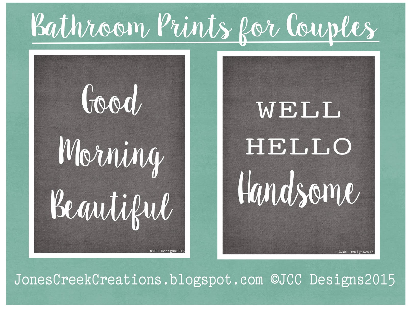jones creek creations: bathroom printables