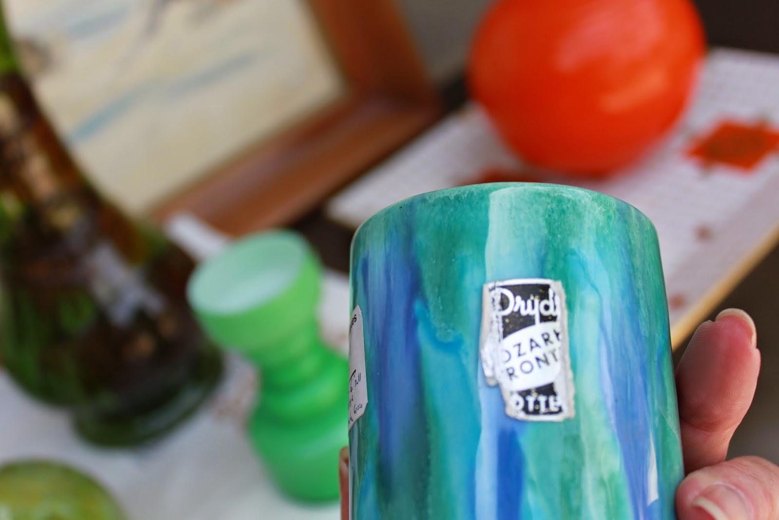 mid-century modern art pottery vase midwest