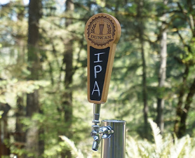 Personalized Custom Tap Handle with Chalkboard Insert - Craft Brew Edition wooden wood seal engraved