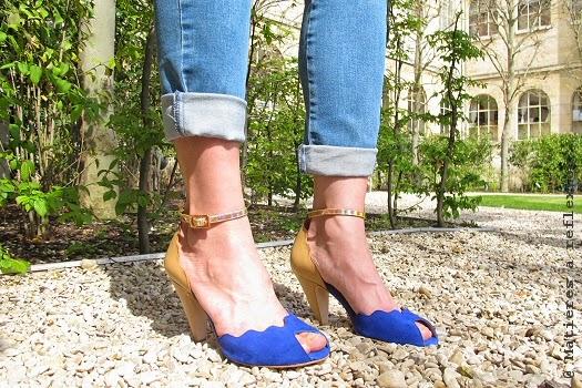 Escarpins Emma Go bleu chair pour l'été !