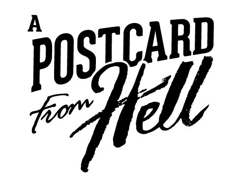 A postcard from hell logo