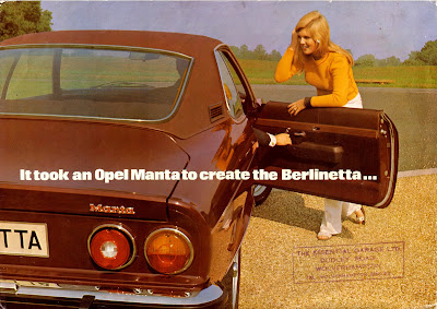 Opel Manta A series Berlinetta Sales Brochure Page 1