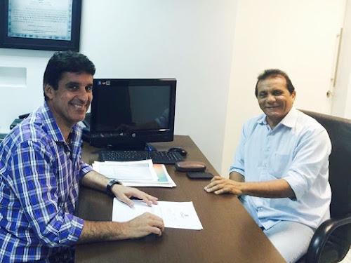 Deputado Agenor Neto se reúne com prefeito Raimundo Luna de Jucás