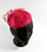 Pink beaded diskette fascinator