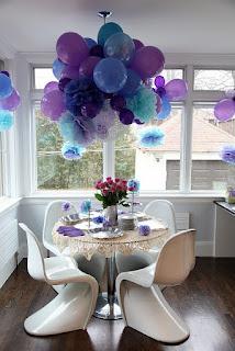 pompones decoracion fiesta