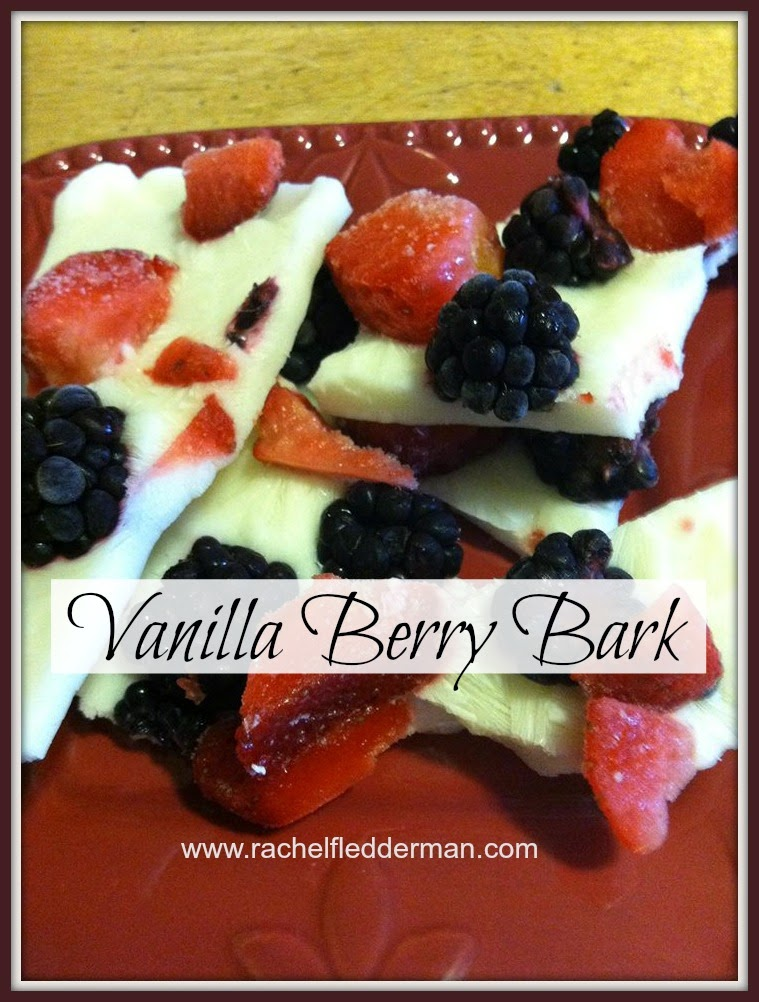 Frozen Vanilla Berry Bark