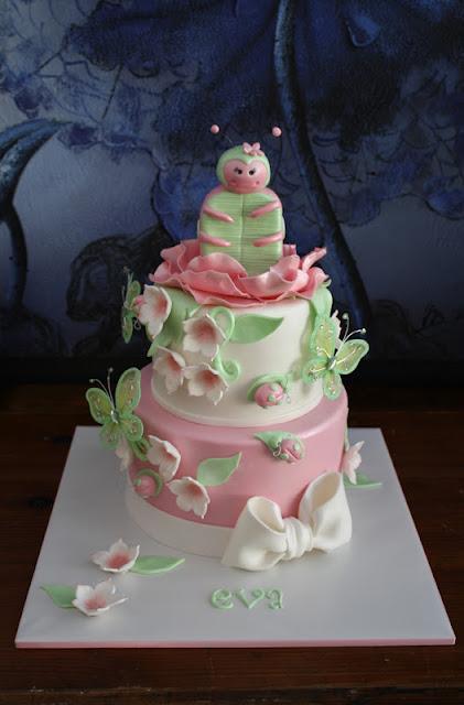 sandys cakes evas pink amp green ladybug cake