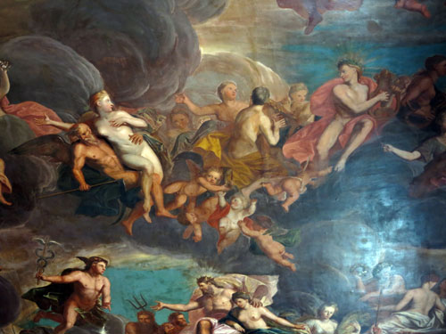 Chatsworth House ceiling