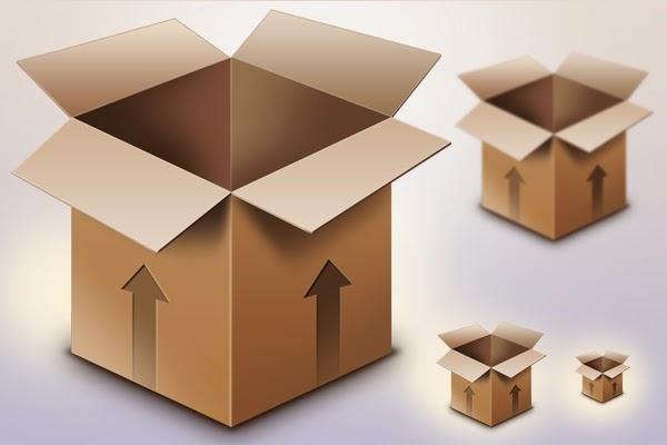 Cardboard Box Icon PSD