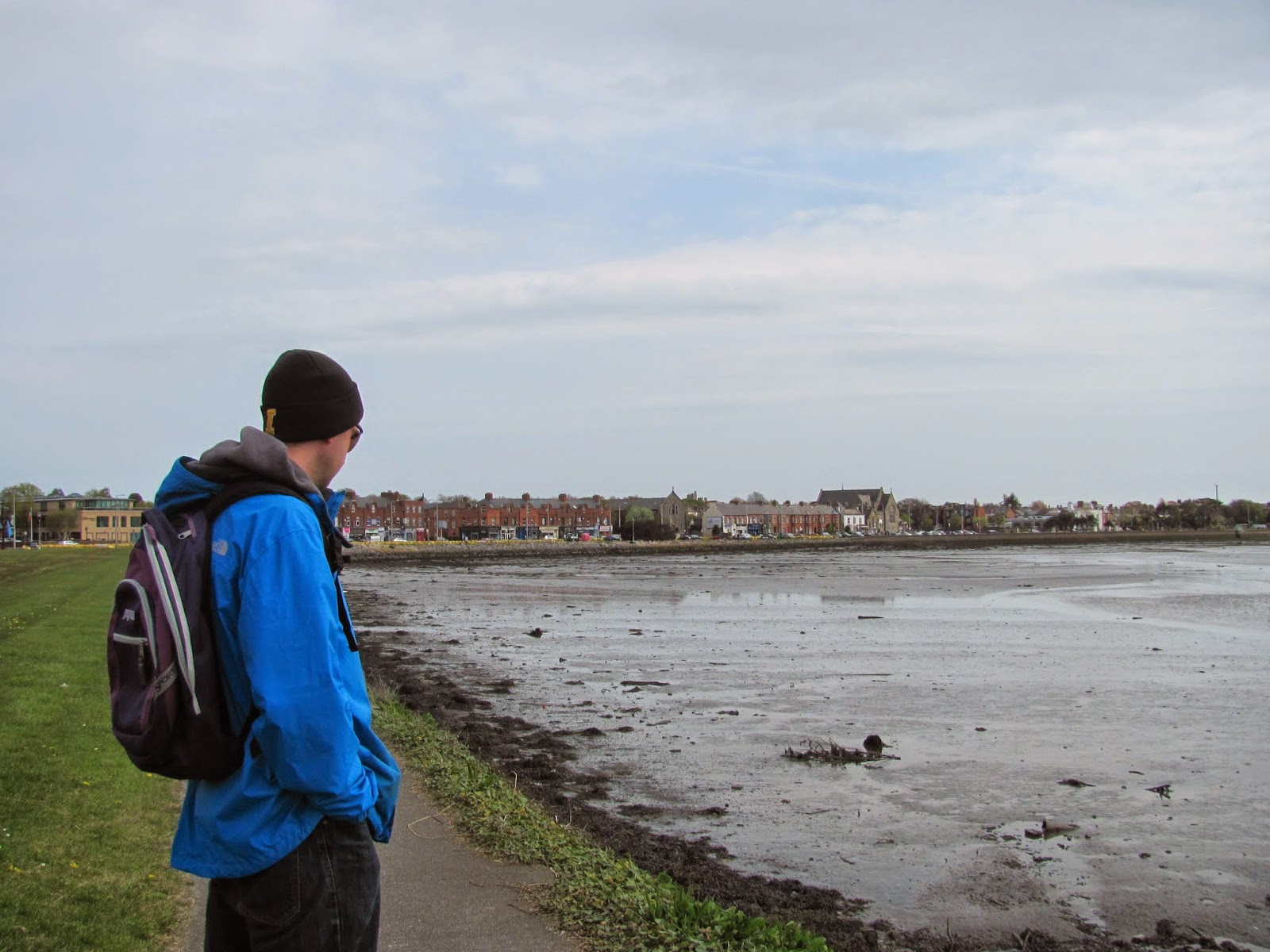 Obligatory Cory-Looking-at-the-Water Shot Battle of Clontarf Heritage Trail Dublin