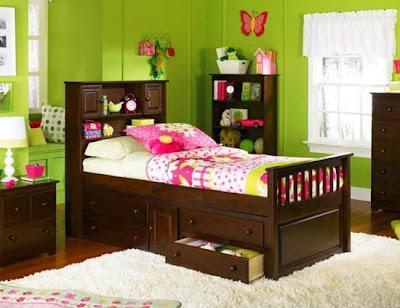 dormitorio verde infantil