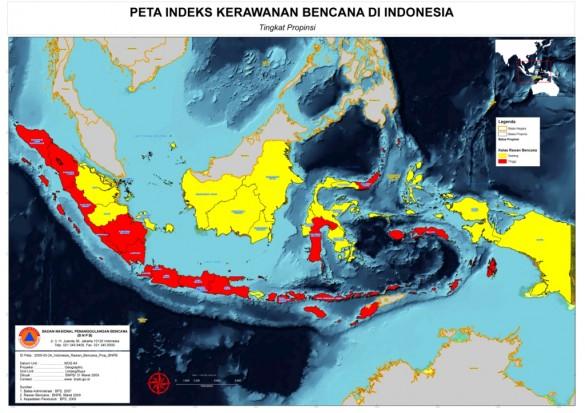 peta daerah rawan bencana indonesia