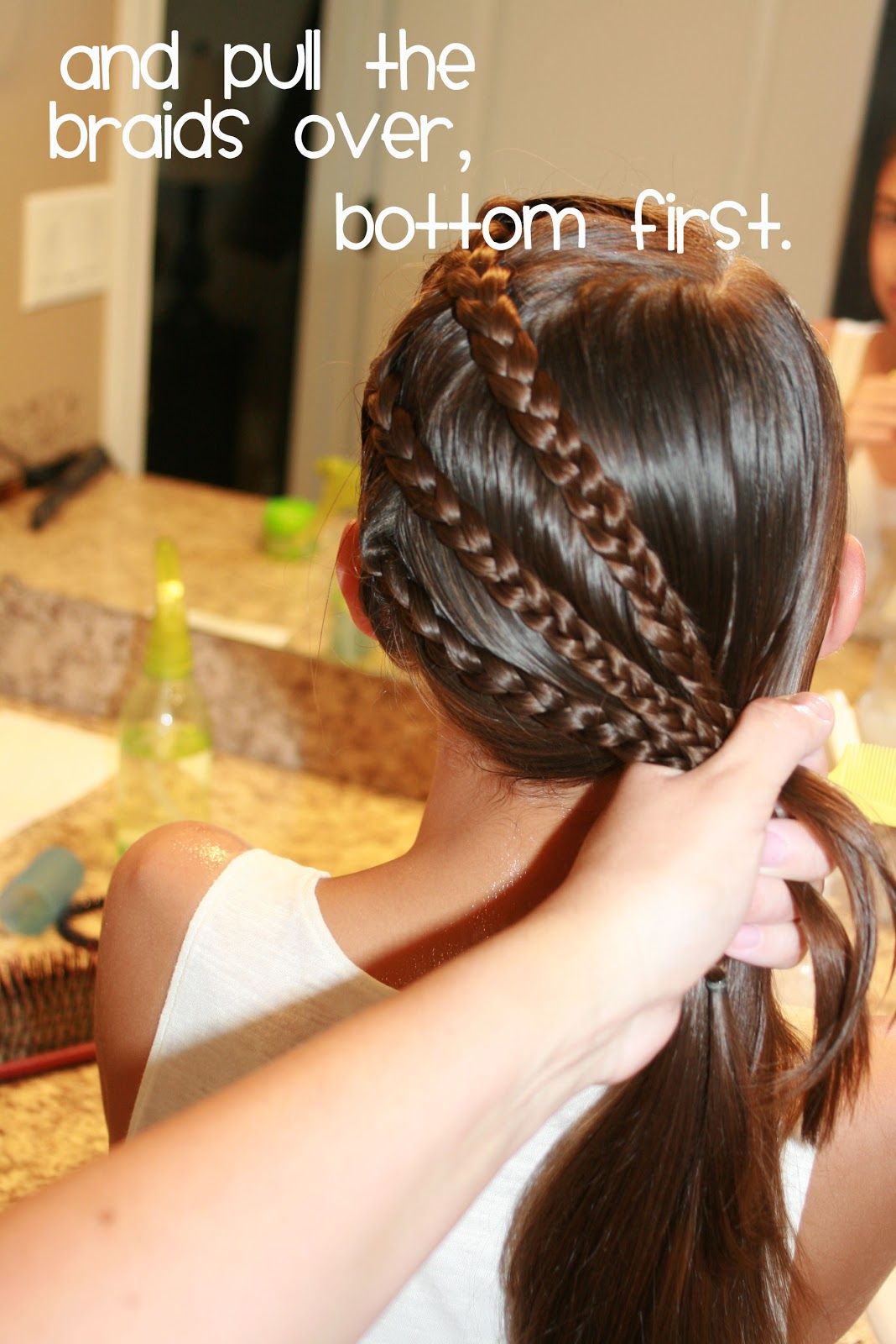 hair today triple braid to a side ponytail. Black Bedroom Furniture Sets. Home Design Ideas