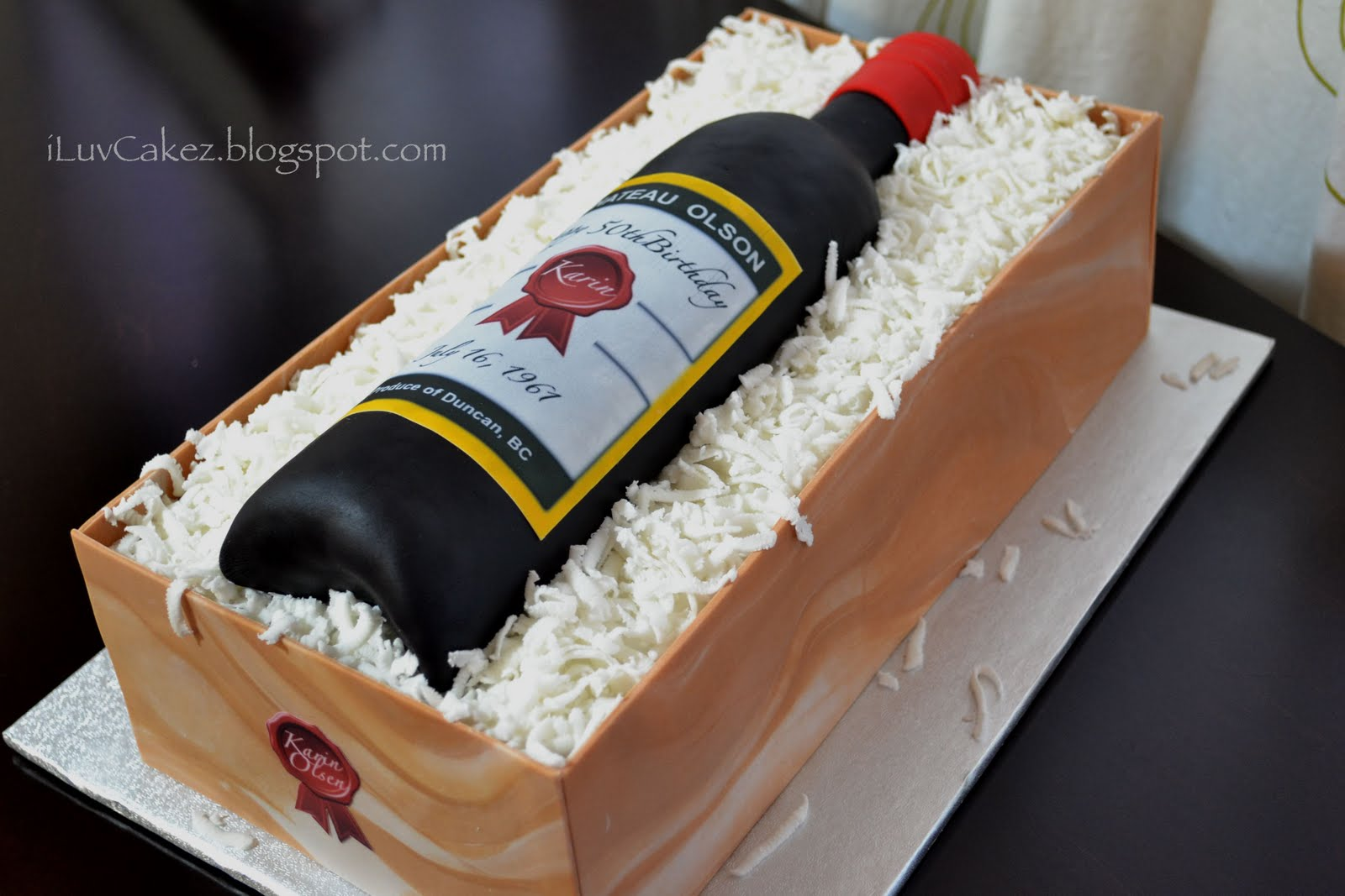 Wine Bottle Cake Karins Birthday