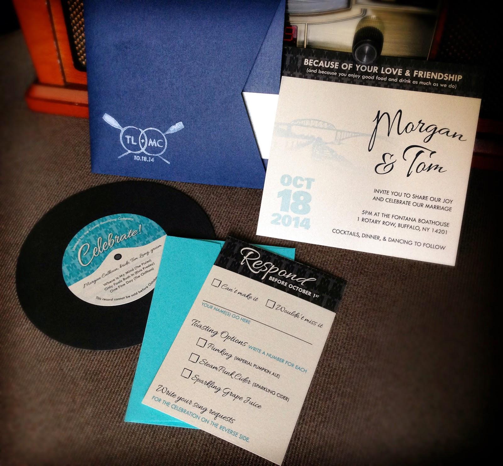 Buffalo Indie Wedding Member Spotlight Invitation Design By Morgan