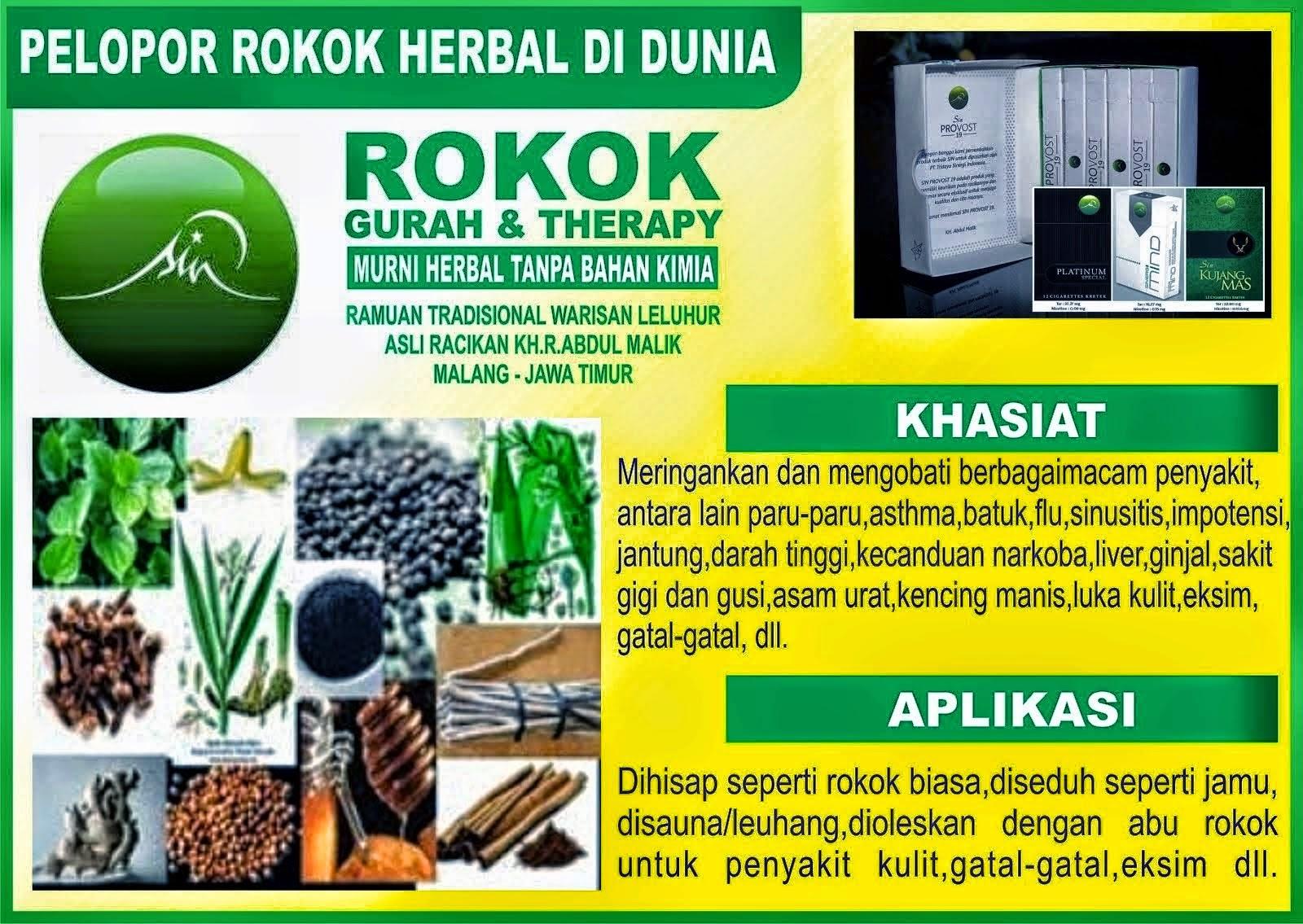 ROKOK HERBAL UTK GURAH&THERAPY BERBAGAI PENYAKIT