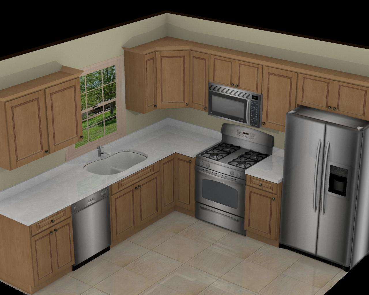 Foundation dezin decor 3d kitchen model design for L shaped kitchen design for small space