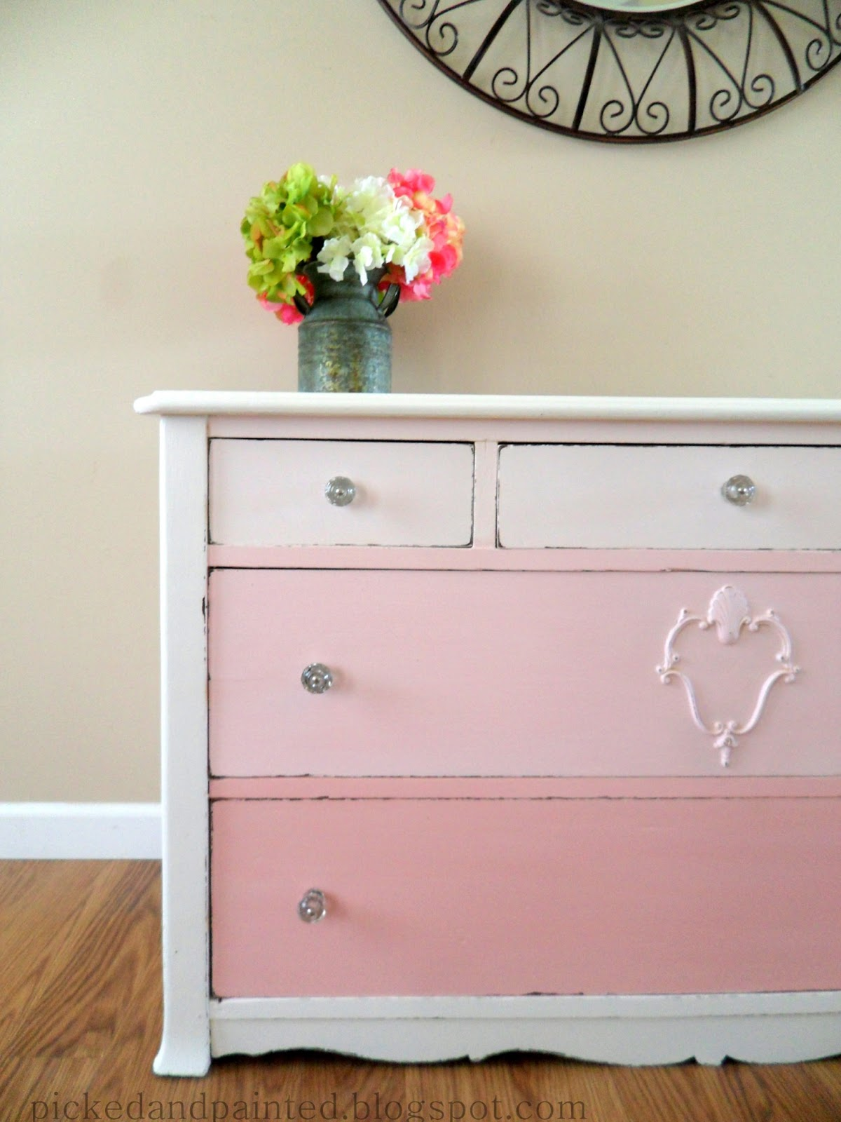 Picked & Painted: Pink Ombre Dresser