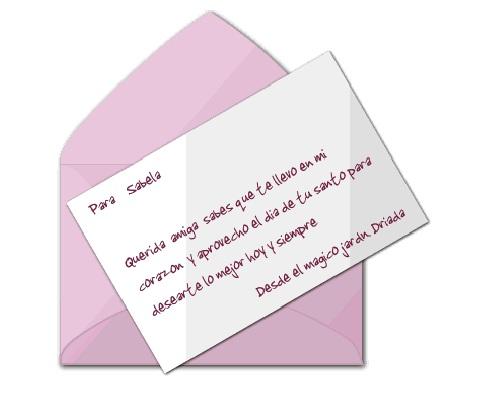Carta de Driada en el momento justo y preciso.