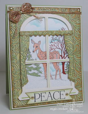 ODBD Peaceful Deer, ODBD Custom Window Dies, ODBD Christmas Paper Collection 2015, Card Designer Angie Crockett